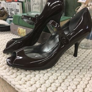 Marc Fisher open toe Mary Jane heels 7.5